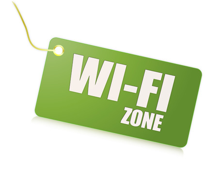 Wi-fi free zone message photo
