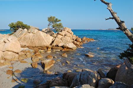 Capriccioli beach in Costa Smeralda, Sardinia Фото со стока