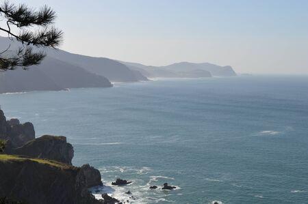 Basque country coast view