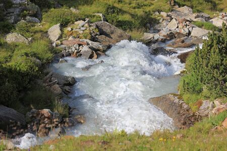 Mountain stream in the swiss alps