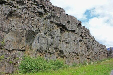 lava wall in iceland