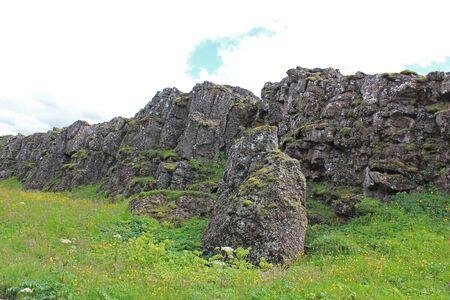 lava rocks in the thingvellir national park