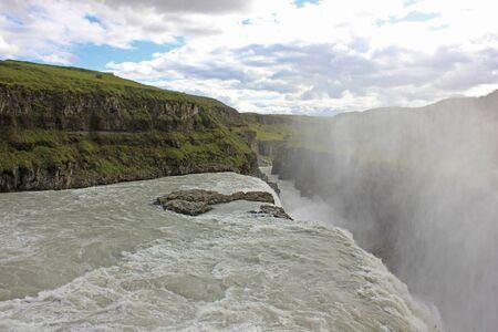 huge gulfoss waterfall in iceland Zdjęcie Seryjne