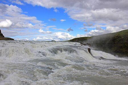impressive gulfoss waterfall Zdjęcie Seryjne