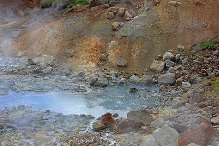 geothermic hot pool in the region of krysuvik