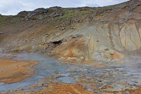 geothermic landscape on the reykjanes peninsula Stok Fotoğraf