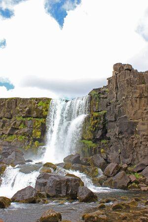 Öxarárfoss waterfall in iceland