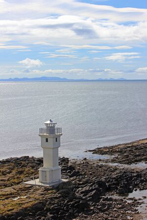 Lighthouse on the coast in iceland