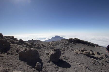 Moonscape on the Mount Kilimanjaro in Africa