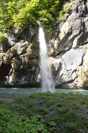 waterfall in the valley of the river aare (aare gorge) Stock fotó