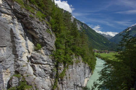 green river aare in the valley of the river aare