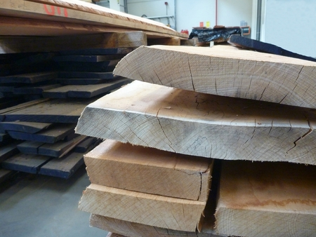 stocked: Wooden plank stocked in the factory
