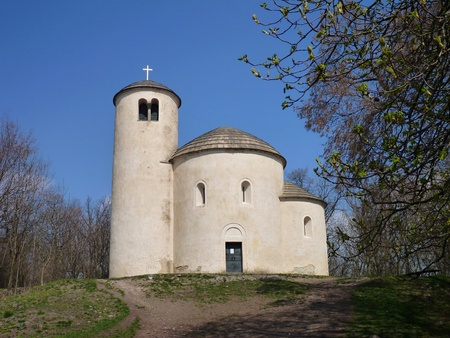 chappel: the chappel of st george at the top of mountain rip in czech republic Stock Photo