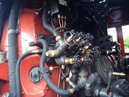 steam machine: un gran motor de la m�quina de vapor hist�rica de edad Foto de archivo