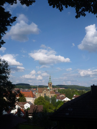 bayern old town: a view of a pegnitz city in germany