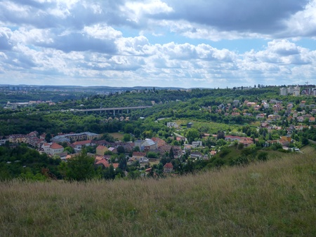 panoramatic: panoramatic view of Prokopske valley in prague in czech republic