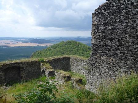 bezdez medieval castle ruin in northern bohemia Reklamní fotografie