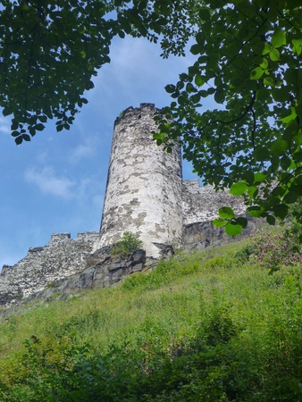 aristocracy: bezdez medieval castle ruin in northern bohemia