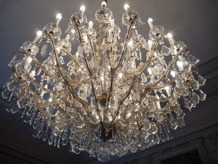 intricacy: a historical decorative precious crystal ceiling light