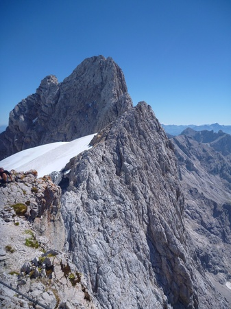 beautiful mountain nature at hoher dachstein in austria Stock Photo
