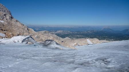 fixer upper: beautiful mountain nature at hoher dachstein in austria Stock Photo