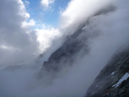 grossglockner: beautiful climbing rocky route to the grossglockner mountain Stock Photo