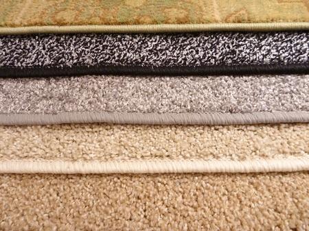 man made object: a detail of a high hair carpet texture Stock Photo