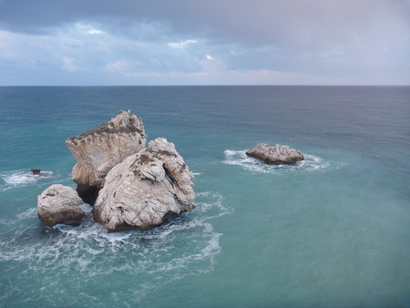 rock petra tou romiou, legendary birthplace ofgodess aphrodite in cyprus