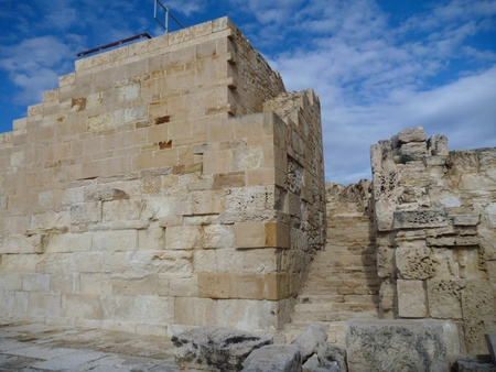 archeological: ancient greek excavation site kourion in cyprus