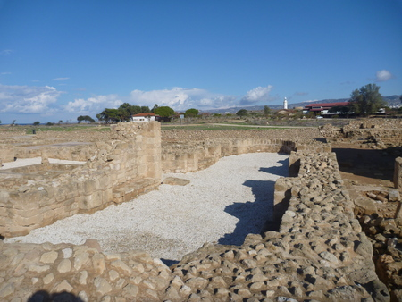 archeological: historical archeologicel site kato pafos in cyprus