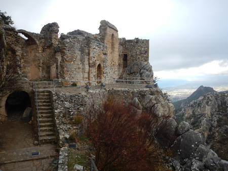 mediaval fort st hilarion castle in northern cyprus