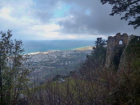 st hilarion: mediaval fort st hilarion castle in northern cyprus