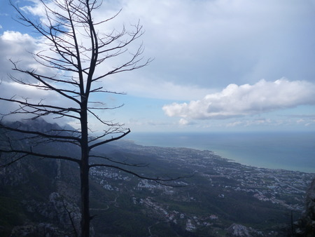 st hilarion: beautiful landscape panorama from st hilarion castle in northern cyprus