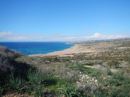 a beautiful rocky shore of cyprus island