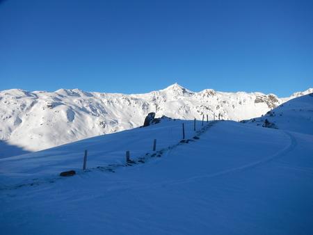 alpen: winter skitouring and climbing in austrian alps beautiful landscape Stock Photo
