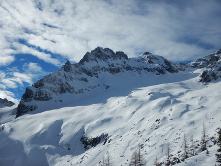 loser: beautiful winter landscape of totes gebirge mountains in austria