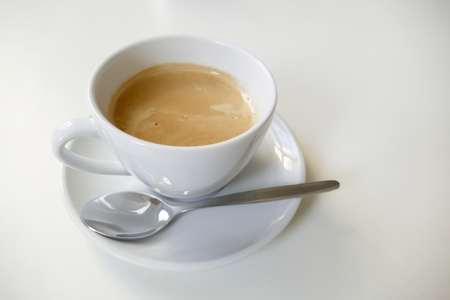 crystal background: a nice cup of fresh hot tasty coffee