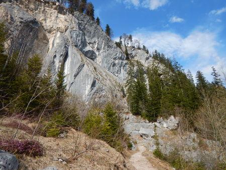 a beautiful sports climbing cliff zwerchwand in austria