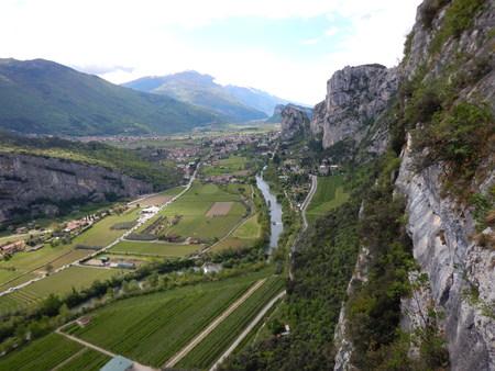 valley of the Sarca river in trentino alto adige in italy