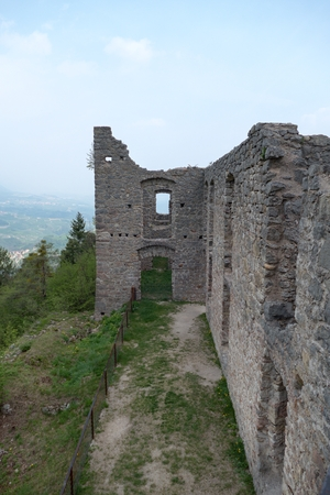 caved: the beautiful castel belfort ruin in italy Stock Photo