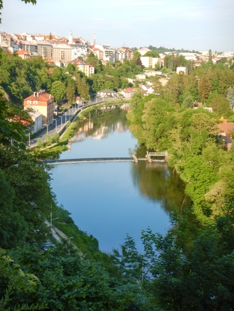 lookout panorama of the city tabor in czech republic