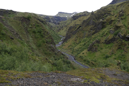 gully: beautiful wild nature in hiking the laugavegur trail in Iceland