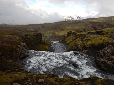 wonderfull: Waterfall cascade at the river Skoga in Iceland