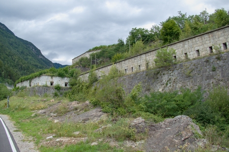 fortezza franzensfeste fortification in sud tirol in italy