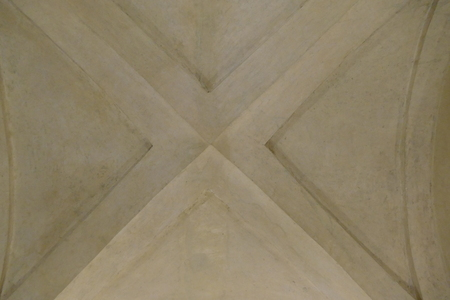 historical ceiling in an old building pattern