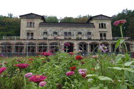 abandoned building of slechtova rastaurace in prague in czech