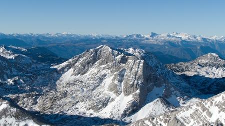 autumn hike to grosser priel mountain in austria