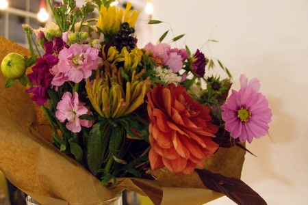 variable: beautiful variable colorful decorative flowers in vase