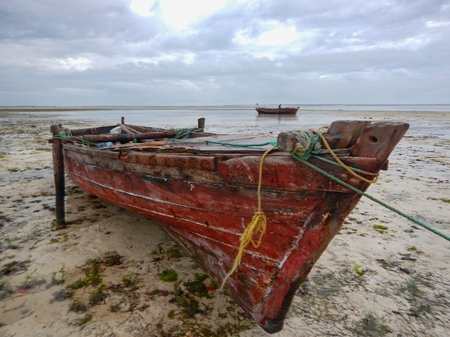 traditional fishing boat in zanzibar in africa Stock Photo