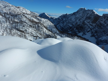 winter nature in Triglav national park climbed from Krma valley
